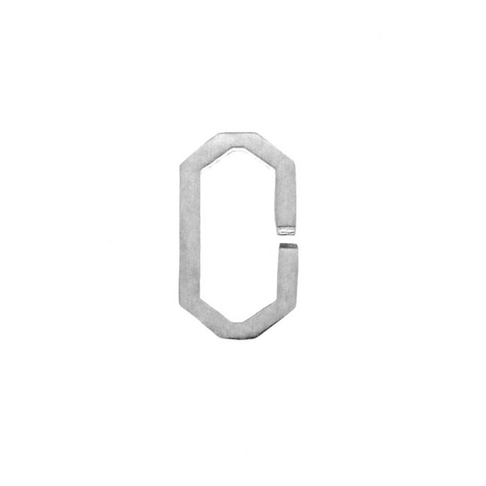 Nineteen Letter O Charm Sterling Yellow Gold Rose Gold