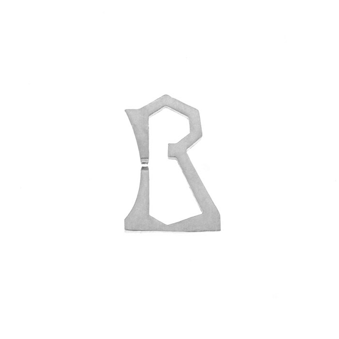 Nineteen Letter R Charm Sterling Yellow Gold Rose Gold