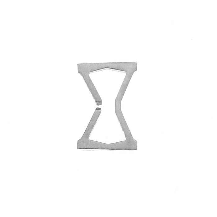 Nineteen Letter X Charm Sterling Yellow Gold Rose Gold