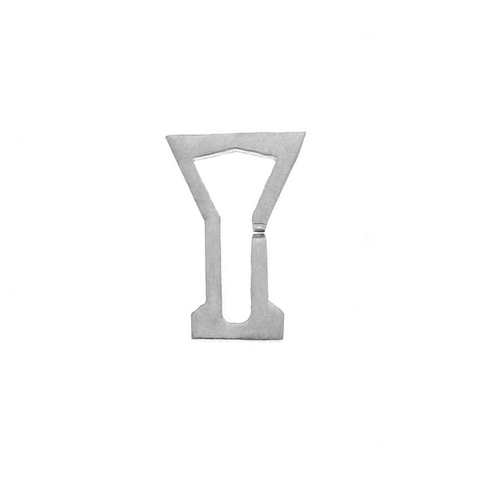 Nineteen Letter Y Charm Sterling Yellow Gold Rose Gold