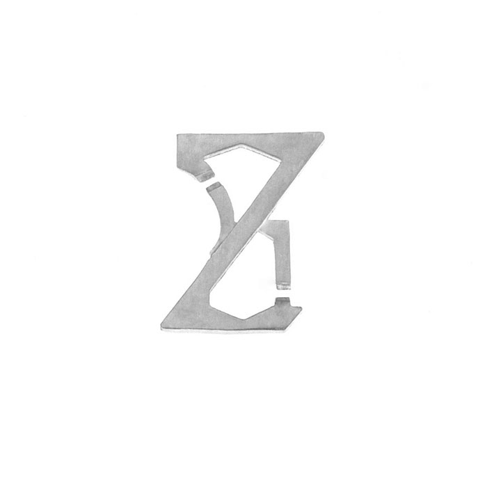 Nineteen Letter Z Charm Sterling Yellow Gold Rose Gold