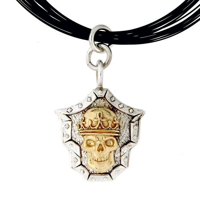 Golgotha Pendant Skull King Silver Rose Gold Yellow Gold