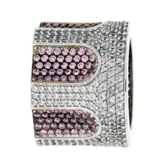 Golgotha Ring Cylinder CZ Sterling Rose Gold Yellow Gold