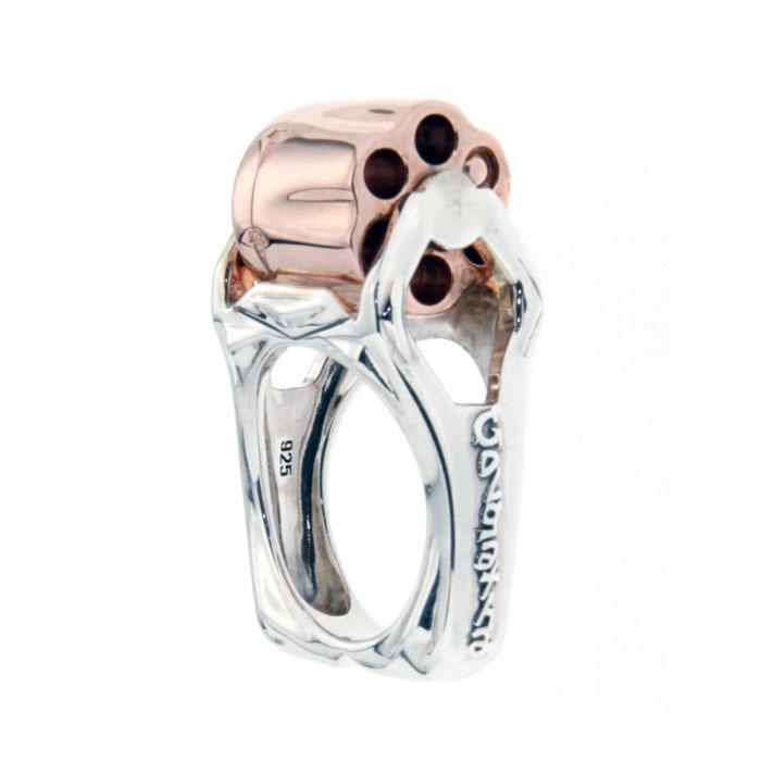 Golgotha Ring Revolver Sterling Silver Rose Gold Yellow Gold