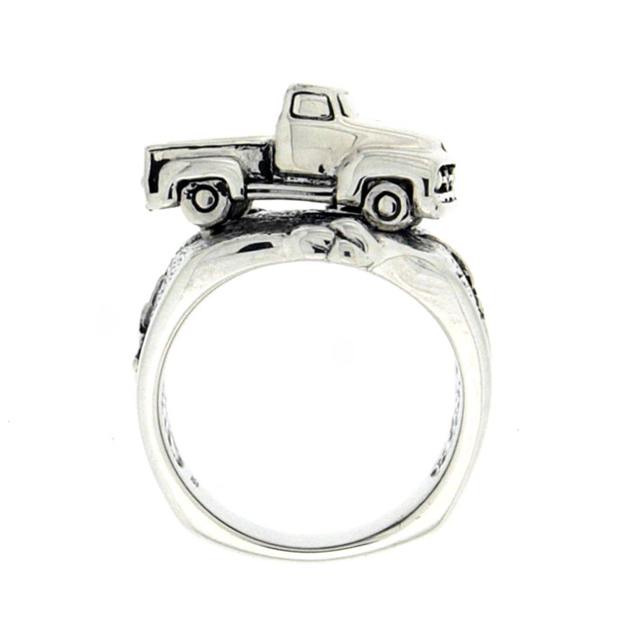 Golgotha Ring Truck Sterling Silver Rose Gold Yellow Gold