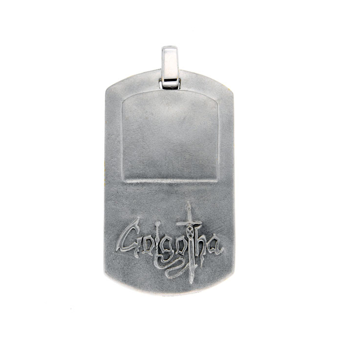 Golgotha Tags Sterling Silver Rose Gold Yellow Gold