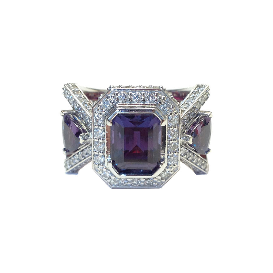 Alexandrite Rings White Gold Alexandrite Diamonds