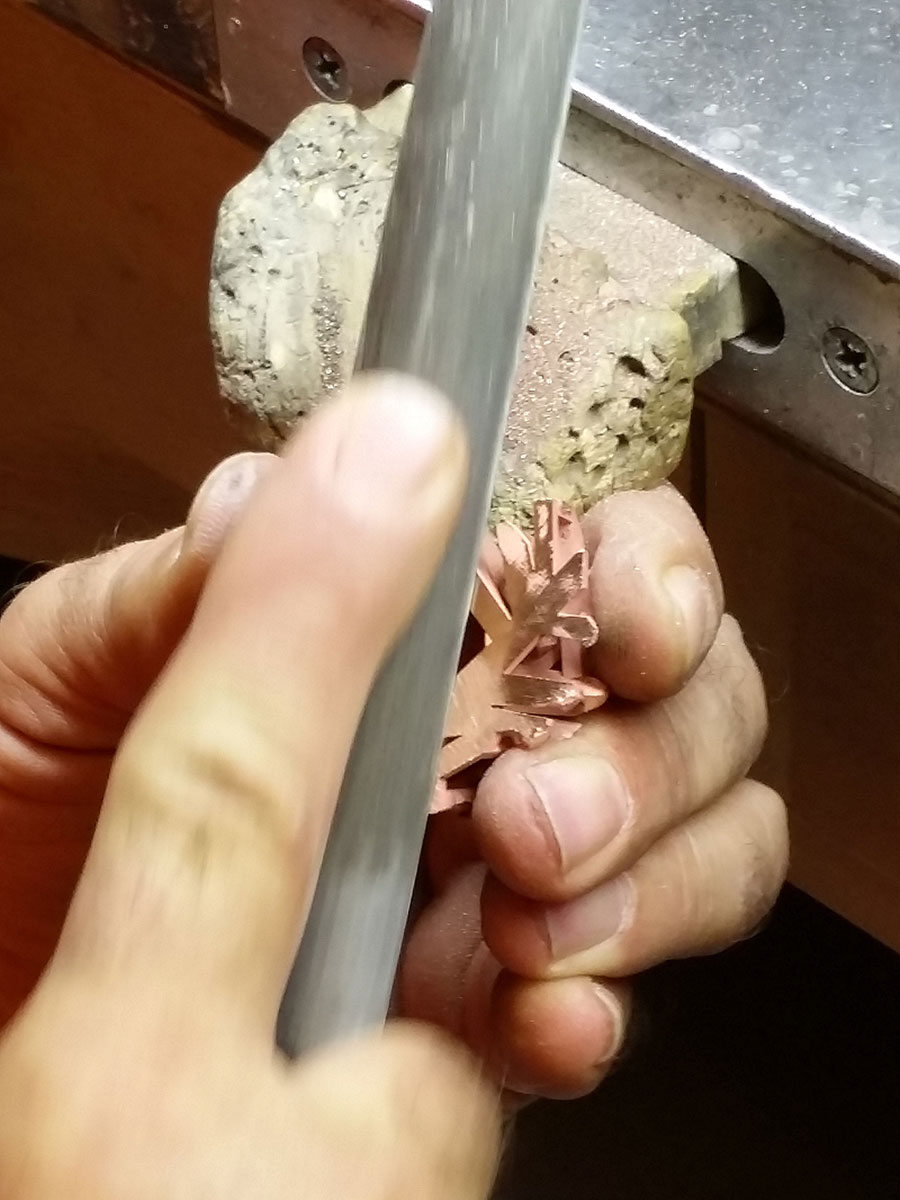 Private Commission Production Process Bench Crystals and Gems