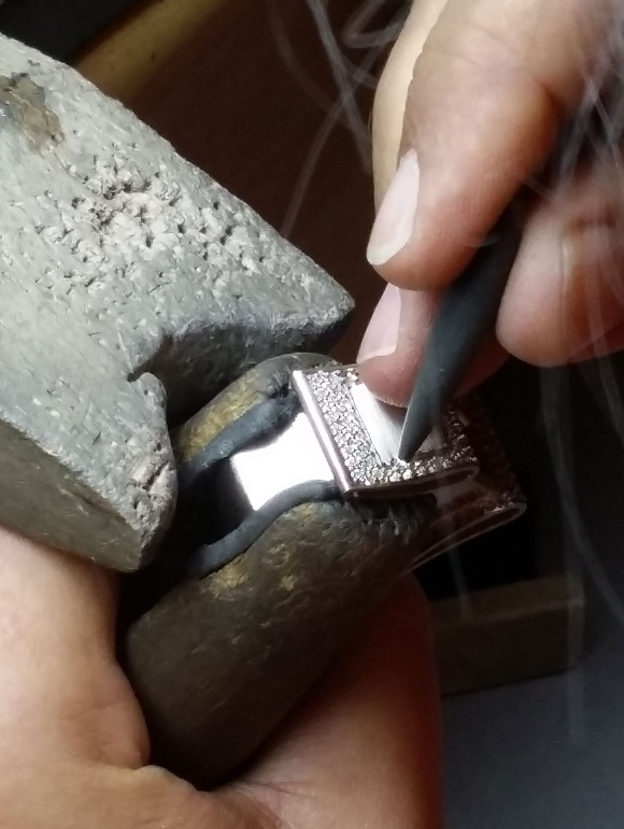 Private Commission Production Process Bench Buckle Ring