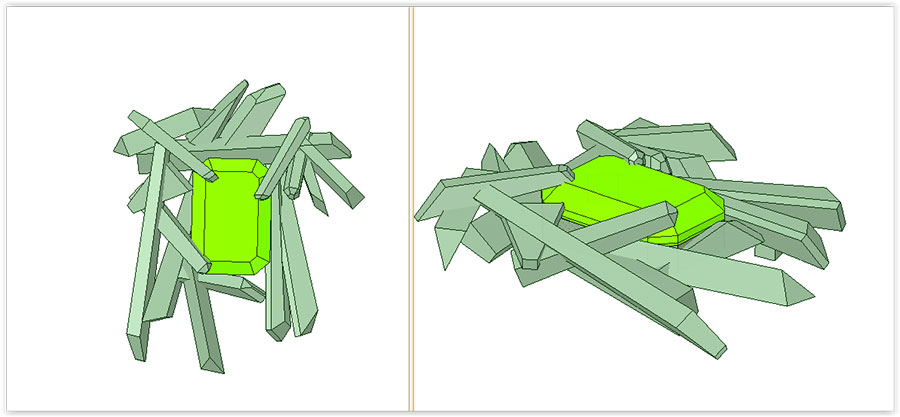Private Commission Production Process Design CAD Rendering Crystals and Gems Pendant