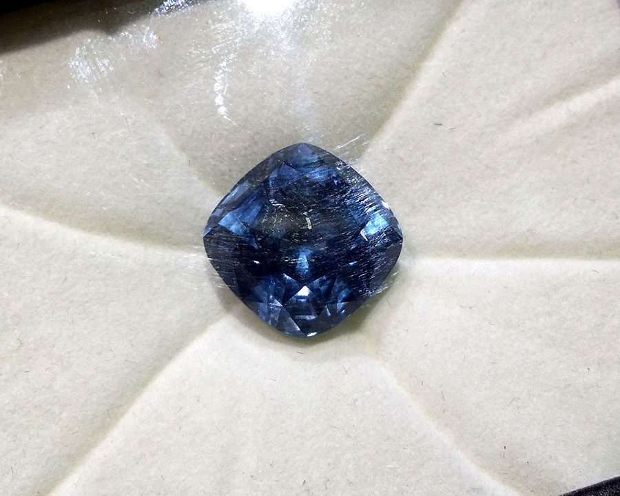 Private Commission Production Process Design Cushion Blue Spinel Ocean Wave Ring
