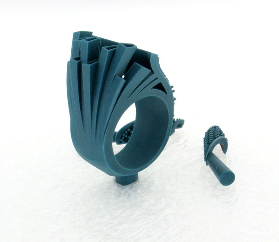Private Commission Production Process Design CAD Model Ocean Wave Ring
