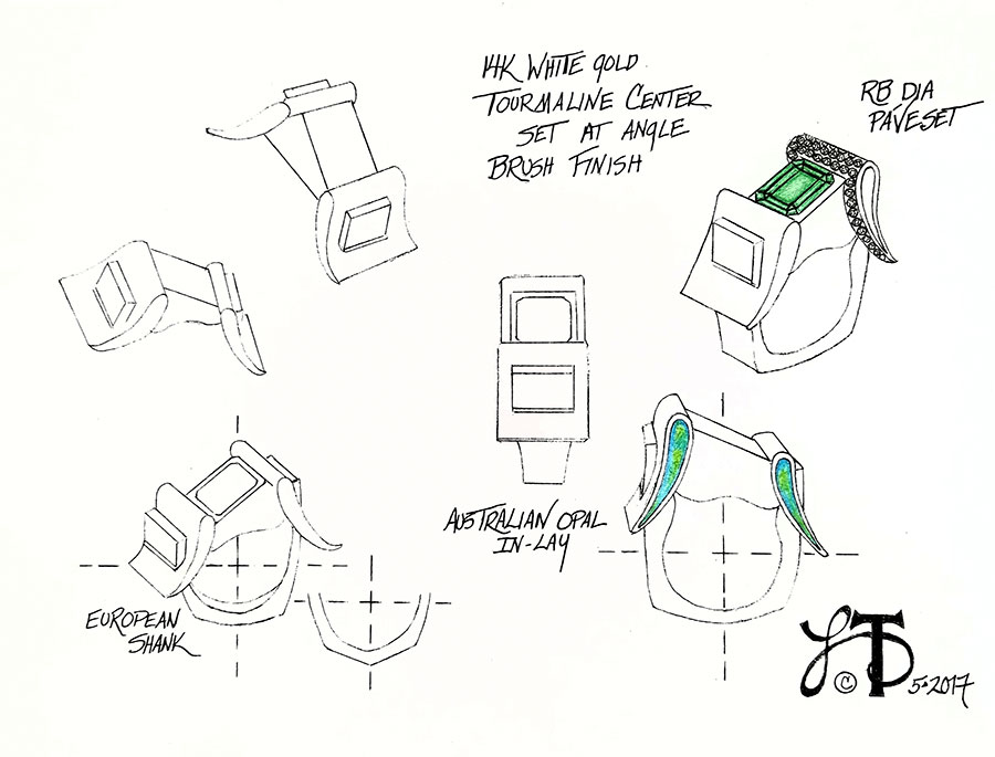 Private Commission Production Process Design Rendering Buckle Ring