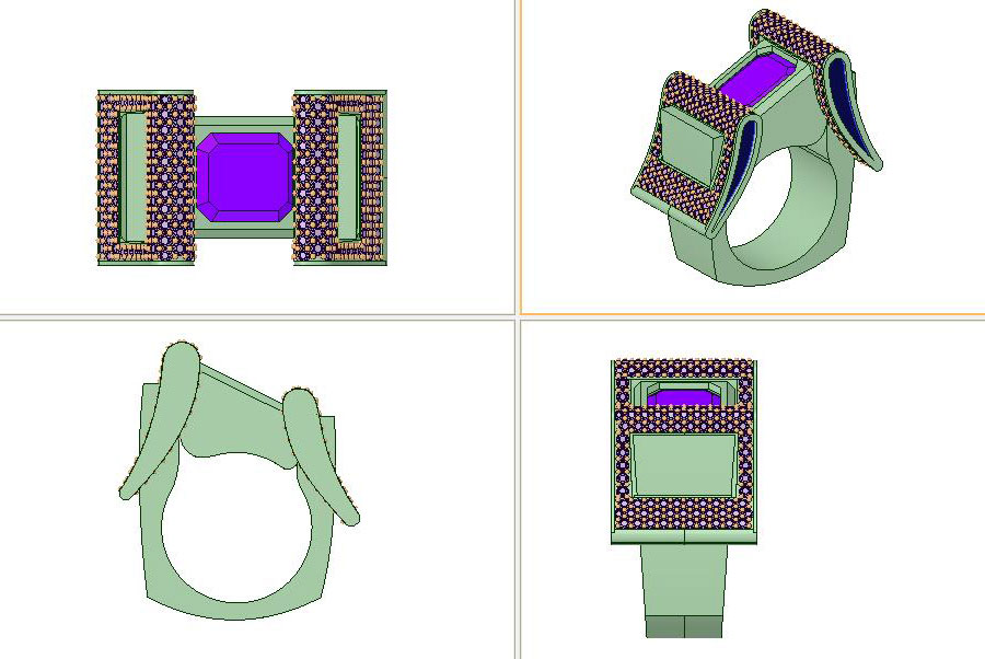 Private Commission Production Process Design CAD Rendering Buckle Ring