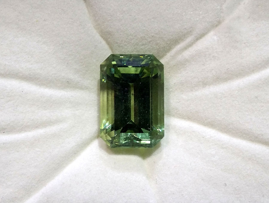 Private Commission Production Process Design Emerald Cut Limegreen Tourmaline Crystals and Gems Pendant