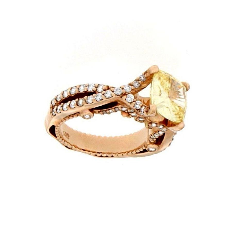 Engagement Ring Rose Gold Diamonds