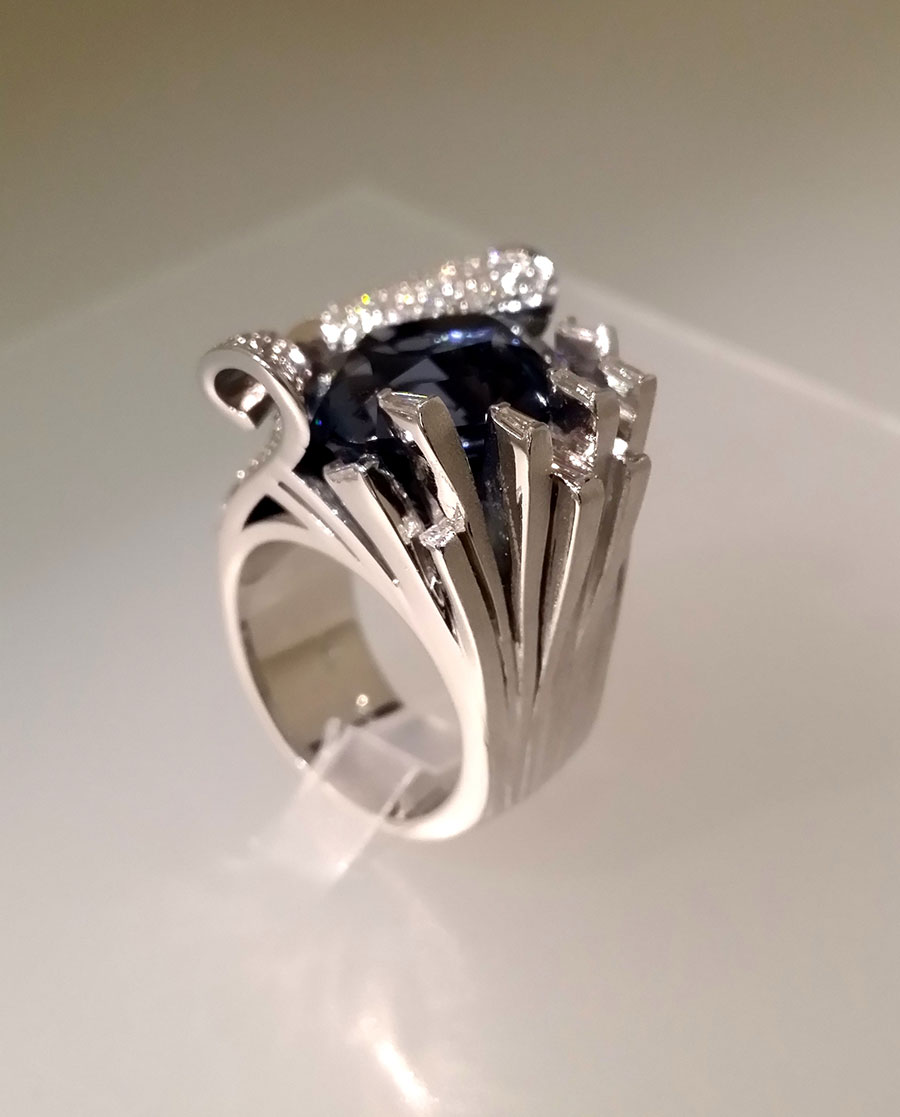 Private Commission Production Process Finish Ocean Wave Ring
