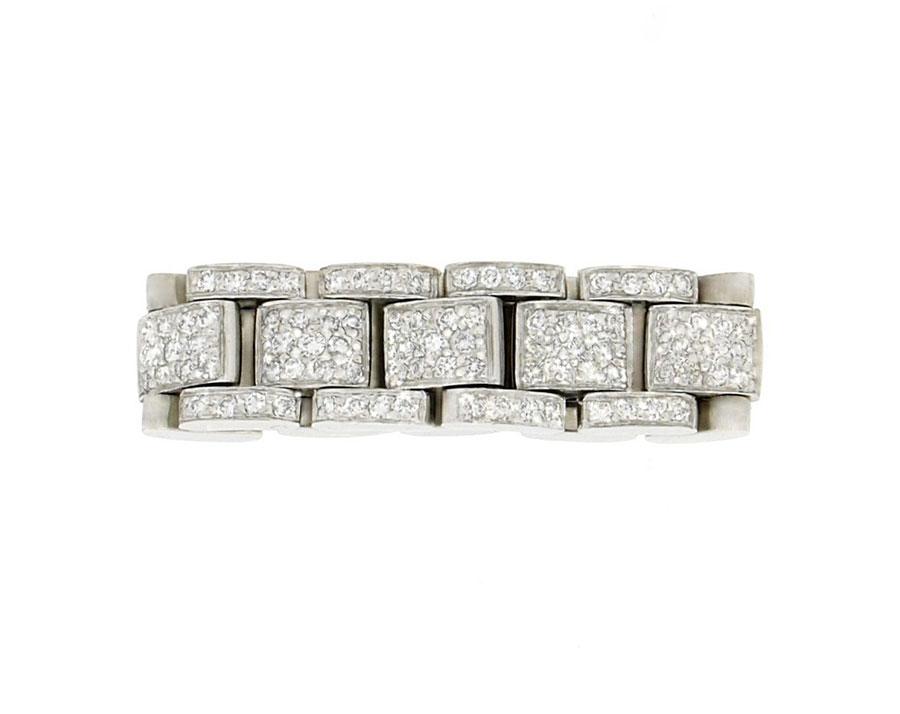 Private Commission Linked Rings Platinum Diamonds