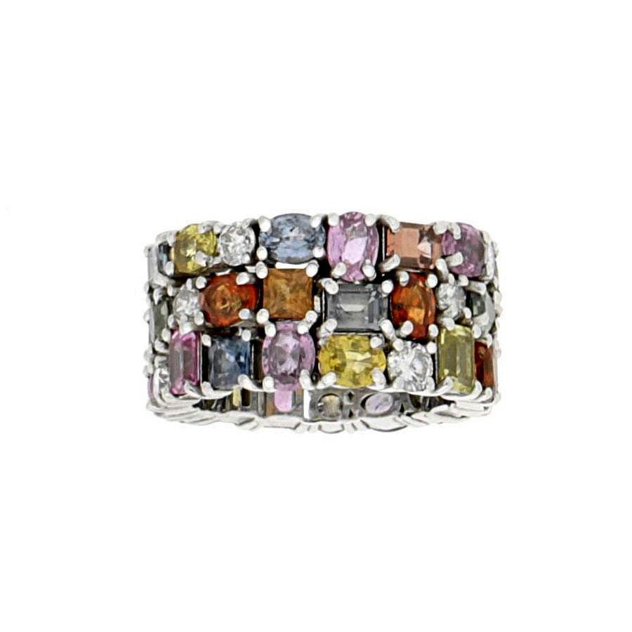 Private Commission Rings Sapphire and Diamond White Gold Sapphires Diamonds Tanzanites