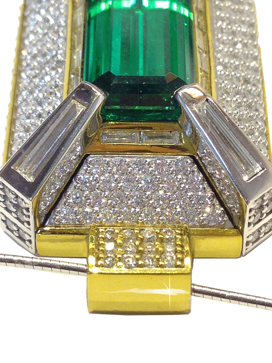 Tsavorite Rings White Gold Tsavorite Garnet Diamonds