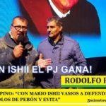 """RODOLFO PINO: """"CON MARIO ISHII VAMOS A DEFENDER EL PJ Y LOS SÍMBOLOS DE PERÓN Y EVITA"""""""