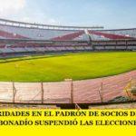 POR IRREGULARIDADES EN EL PADRÓN DE SOCIOS DEL CLUB RIVER PLATE EL JUEZ BONADÍO SUSPENDIÓ LAS ELECCIONES