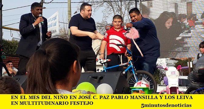 EN EL MES DEL NIÑO EN JOSÉ C. PAZ PABLO MANSILLA Y LOS LEIVA EN MULTITUDINARIO FESTEJO