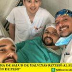 """EL SISTEMA DE SALUD DE MALVINAS RECIBIÓ AL EQUIPO DE """"CUESTIÓN DE PESO"""""""