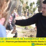 EN MALVINAS ARGENTINAS SE PAVIMENTAN LOS ACCESOS A LAS ESCUELAS   Nuevos pavimentos en barrio Santa Lucía