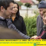 LEO NARDINI MONITOREÓ LA OBRA DE LA CALLE JOSÉ MARTI   Recibió nuevamente el reconocimiento de los vecinos