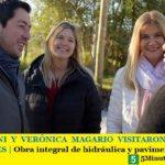 LEO NARDINI Y VERÓNICA MAGARIO VISITARON EL BARRIO LOS NOGALES   Obra integral de hidráulica y pavimentación