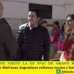 LEO NARDINI VISITÓ LA EP Nº27 DE GRAND BOURG | El Municipio de Malvinas Argentinas reforma cocina y baños