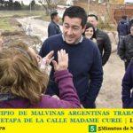 EL MUNICIPIO DE MALVINAS ARGENTINAS TRABAJA EN LA SEGUNDA ETAPA DE LA CALLE MADAME CURIE   Leo Nardini visitó la obra