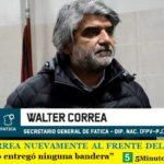 """WALTER CORREA NUEVAMENTE AL FRENTE DEL FATICA   """"La Federación no entregó ninguna bandera"""""""