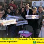 """URTUBEY EN MERCEDES   """"El empuje de los jóvenes nos muestra que otra Argentina es posible"""""""