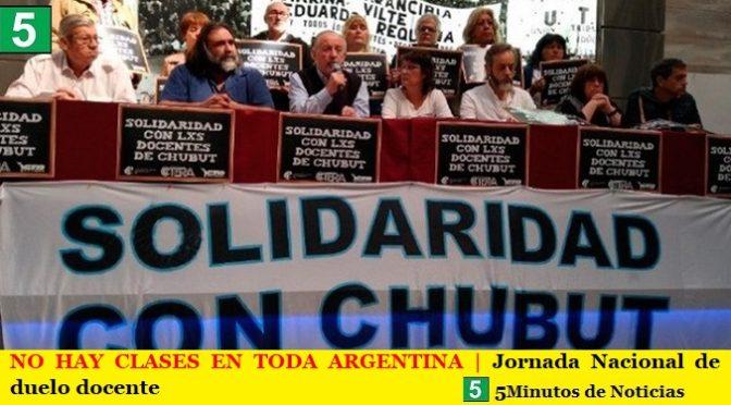 NO HAY CLASES EN TODA ARGENTINA   Jornada Nacional de duelo docente