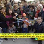 LEO NARDINI INAUGURÓ UN NUEVO PAVIMENTO CON HIDRÁULICA EN GRAND BOURG   Muchas familias esperaban esta obra desde hace más de medio siglo