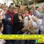 LEO NARDINI INAUGURÓ LA SEMI PEATONAL DE LOS POLVORINES   Agradeció a comerciantes y vecinos por el acompañamiento