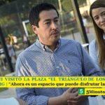 """LEO NARDINI VISITÓ LA PLAZA """"EL TRIÁNGULO DE LOS NIÑOS"""" DE GRAND BOURG   """"Ahora es un espacio que puede disfrutar la familia"""""""