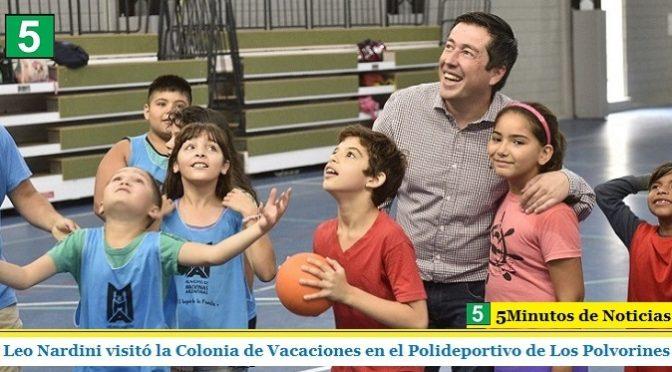 LEO NARDINI VISITÓ LA COLONIA DE VACACIONES EN EL POLIDEPORTIVO DE LOS POLVORINES