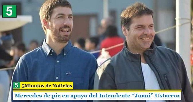 """Mercedes de pie en apoyo del Intendente """"Juani"""" Ustarroz"""