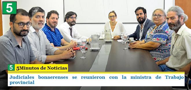 JUDICIALES BONAERENSES SE REUNIERON CON LA MINISTRA DE TRABAJO PROVINCIAL