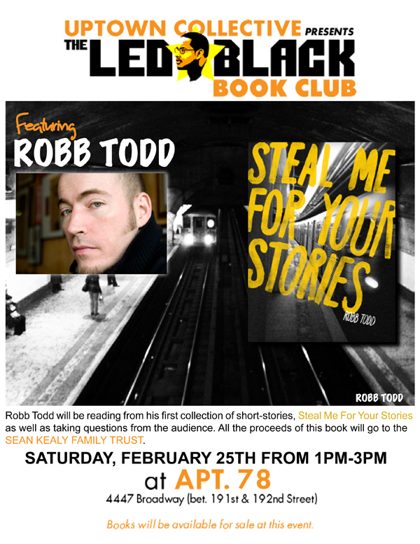 The Led Black Book Club ft Robb Todd Author of Steal Me For Your Stories