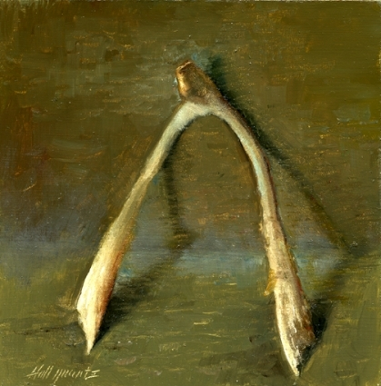 Painting of a Wish Bone by Hall Groat II