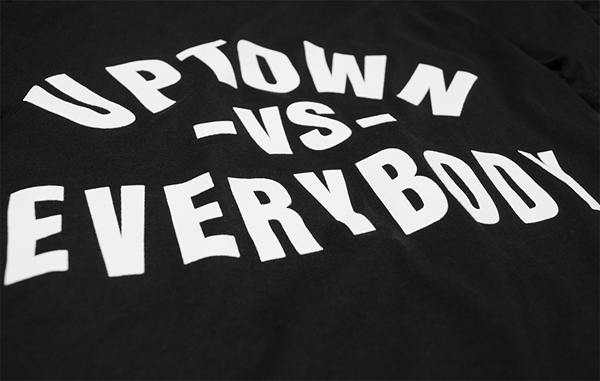 Uptown VS Everybody Tee Close Up