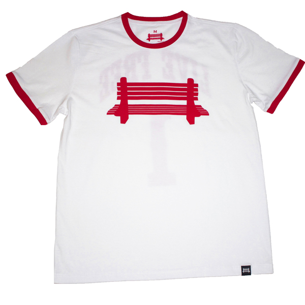 Freedom City Fall Collection - White & Red Tee