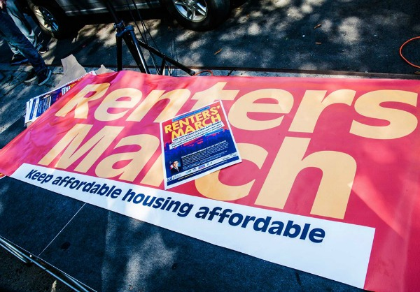 Renter's March - Sign