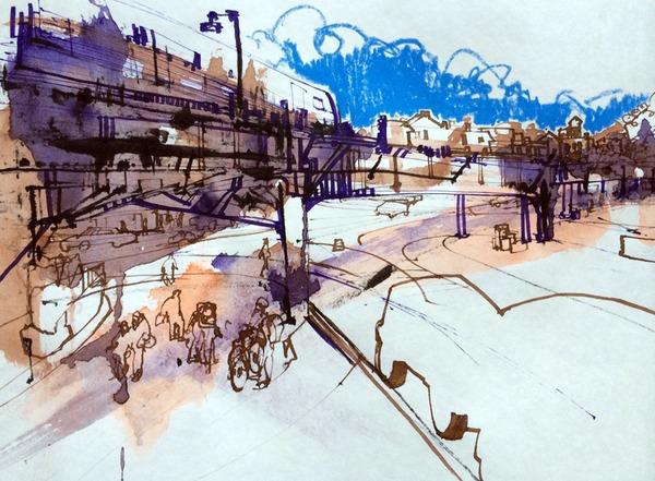 Washington Heights Drawing - Ink And Sword