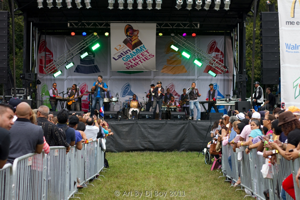 Latin Grammy Street party