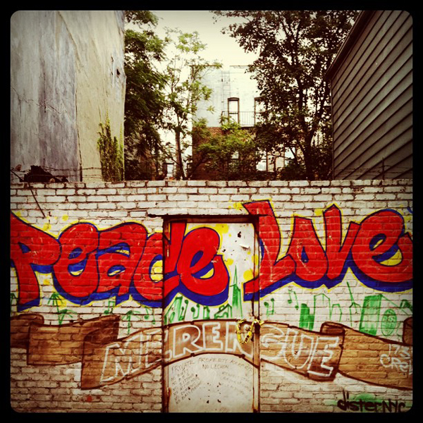 Peace Love Merengue Mural By Dister in Washington Heights